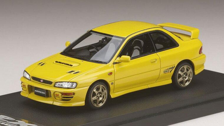 ミニカー MARK43 (PM4357SY) 1/43 スバル インプレッサWRX タイプR Sti Ver.1997(GC8) スポーツホイール チェイスイエロー