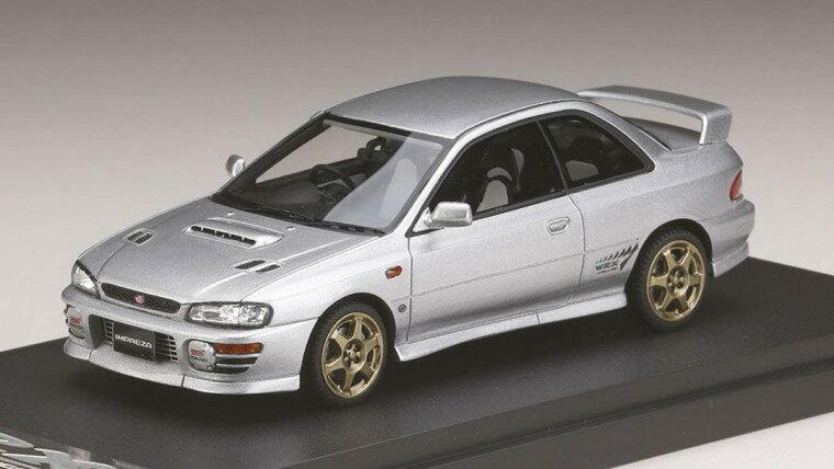 ミニカー MARK43 (PM4357SS) 1/43 スバル インプレッサWRX タイプR Sti Ver.1997(GC8) スポーツホイール ライトシルバーメタリック