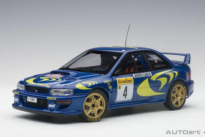 【予約】 オートアート 1/18 スバル インプレッサ WRC No.4 1997 モンテカルロラリー ウイナー P.リアッティ/F.ポンス 完成品ミニカー 89791