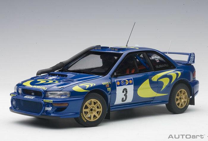 【予約】 オートアート 1/18 スバル インプレッサ WRC No.3 1997 サファリラリー優勝 C.マクレー/N.グリスト 完成品ミニカー 89792