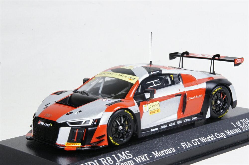 ミニチャンプス 1/43 アウディ R8 LMS アウディ SPORT TEAM WRT FIA GT ワールドカップ マカオ 2016 EDOARDO/MORTARA 完成品ミニカー 437161107