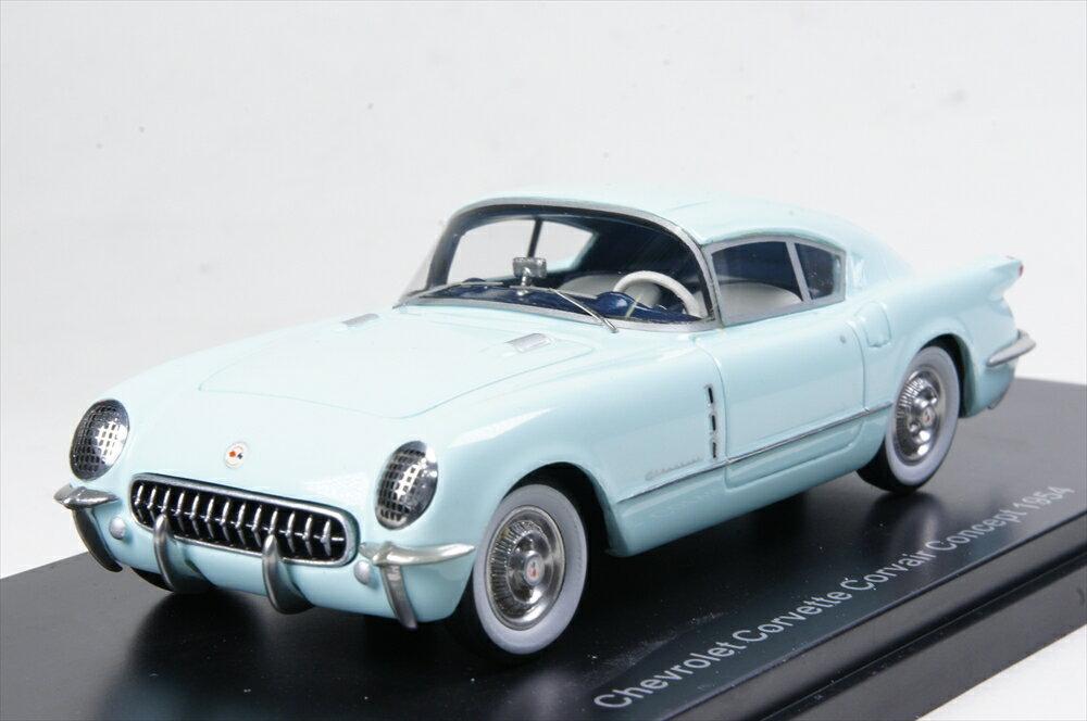 ネオ 1/43 シボレー コルベット コルベア コンセプト 1954 ライトブルー 完成品ミニカー NEO47160