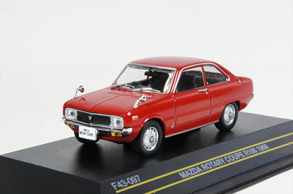 ファースト43 1/43 マツダ ロータリークーペ R100 ファミリア 1968 レッド 完成品ミニカー F43-097