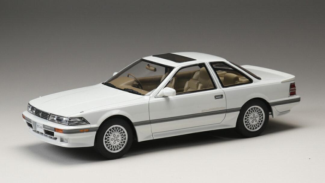 ホビージャパン トヨタ ソアラ 2.0GT ツインターボ L (GZ20) 1988 スーパーホワイト 1/18 完成品ミニカー HJ1801CW