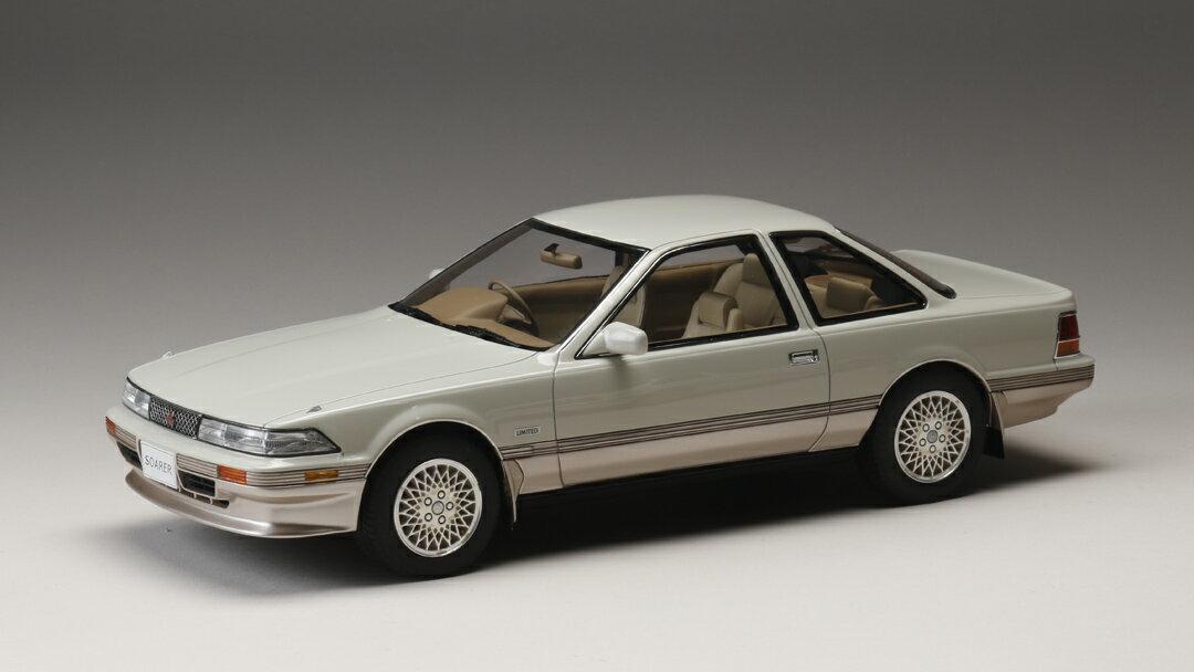 ホビージャパン トヨタ ソアラ 3.0GT リミテッド (MZ20) 1986 クリスタルホワイトトーニング 1/18 完成品ミニカー HJ1801BWS