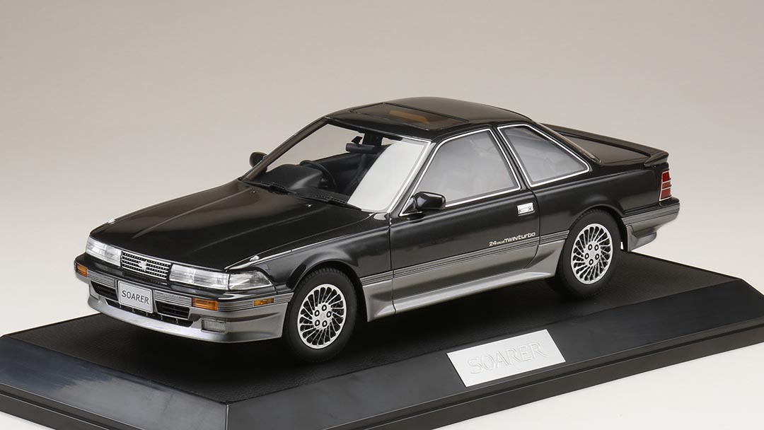 【予約】 HobbyJAPAN18 1/18 トヨタ ソアラ 2.0GT-ツインターボ (GZ20) 1990 ダンディーブラックトーニング 完成品ミニカー HJ1801EBK