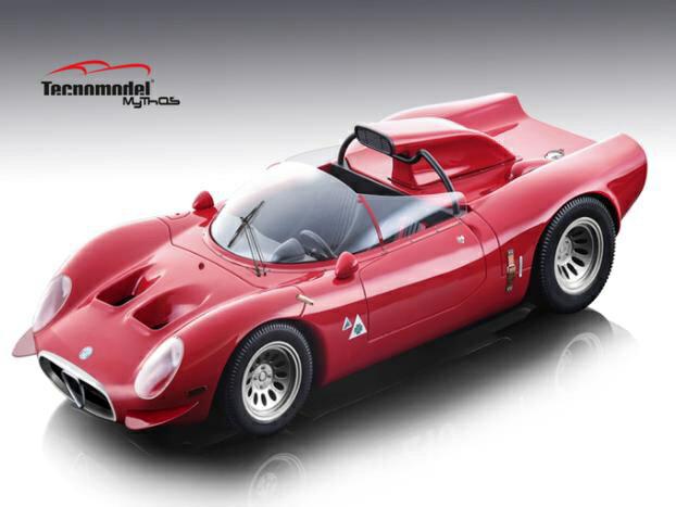 【予約】 テクノモデル 1/18 アルファ ロメオ 33.2 ペリスコーピオ プレス 1967 完成品ミニカー TM18-49A