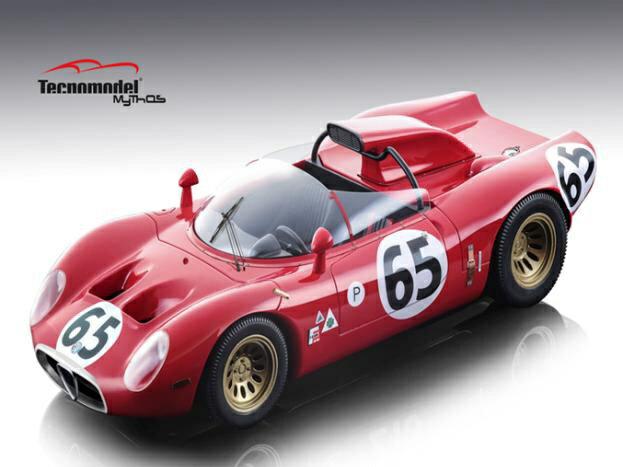 【予約】 テクノモデル 1/18 アルファ ロメオ 33.2 ペリスコーピオ No.65 1967 セブリング12時間 A.D.Adamich/T.Zeccoli 完成品ミニカー TM18-49B
