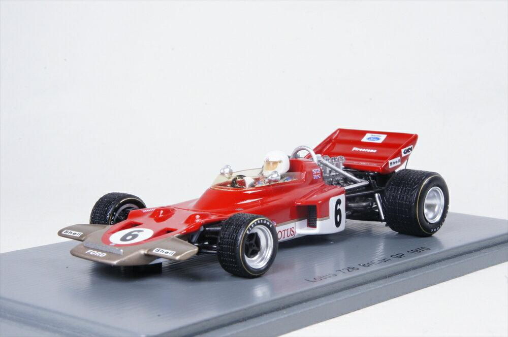 スパーク 1/43 ロータス 72B No.6 1970 F1 イギリスGP J.Miles 完成品ミニカー S5344
