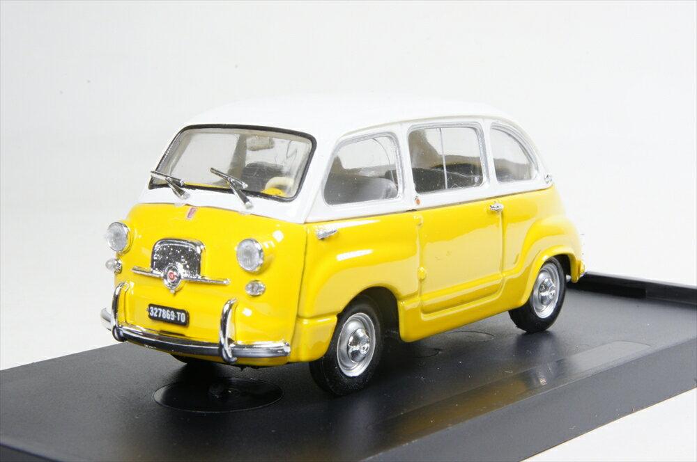 ブルム 1/43 フィアット 600D ムルティプラ 1960 ホワイト/イエロー 完成品ミニカー R333-10
