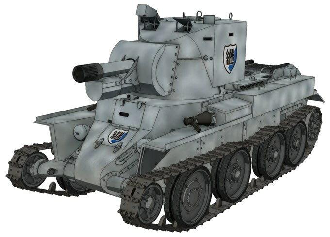 【予約】 プラッツ 1/72 BT-42 突撃砲 継続高校 「ガールズ&パンツァー最終章」より スケールプラモデル GP72-7