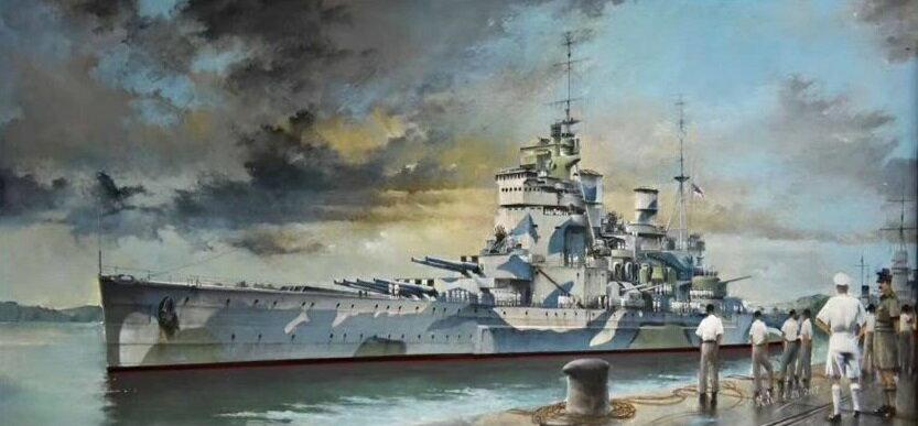 【予約】 フライホークモデル 1/700 イギリス海軍 戦艦 プリンスオブウェールズ 1941年12月 スケールプラモデル FLYFH1117