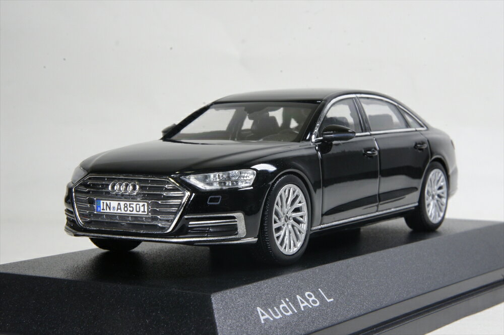 Audi/iScale 1/43 アウディ A8 L 2017 ミソス ブラック 完成品ミニカー 5011708132