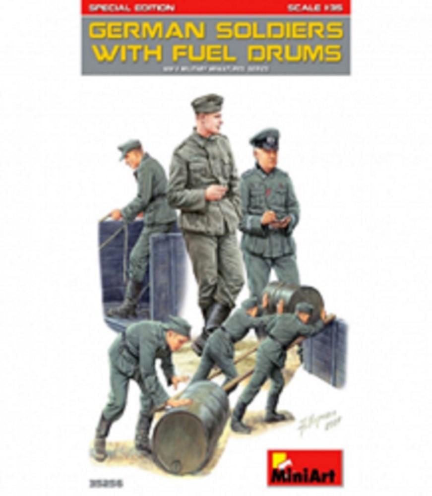 ミニアート 1/35 ドイツ兵 燃料ドラム缶付 特別版 スケールプラモデル MA35256