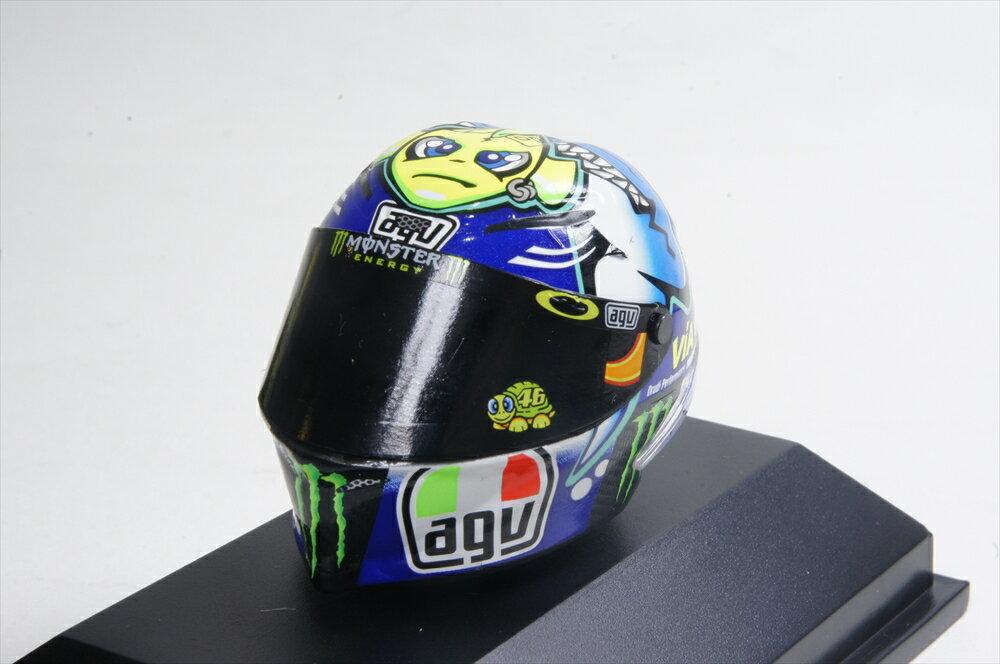 ミニチャンプス 1/8 AGV ヘルメット 2015 モトGP ミサノGP V.ロッシ 完成品ミニカー 398150096