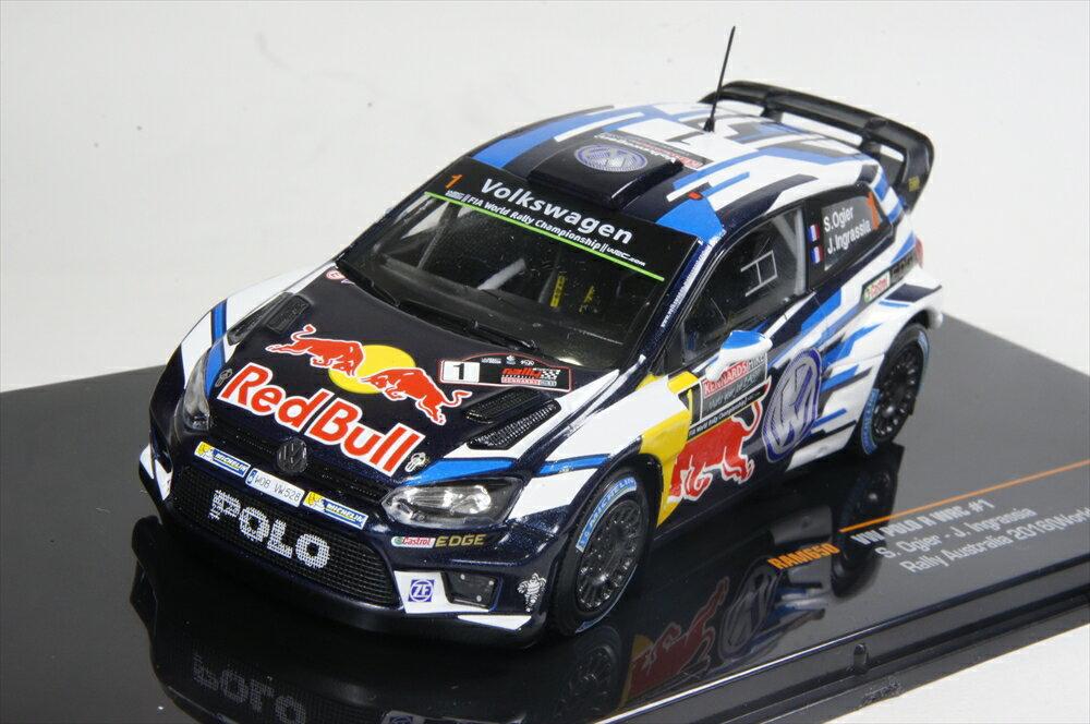イクソ 1/43 フォルクスワーゲン ポロ 2016 WRC オーストラリア ラリー OGIER INGRASSIA ワールドチャンピオン 完成品ミニカー RAM650