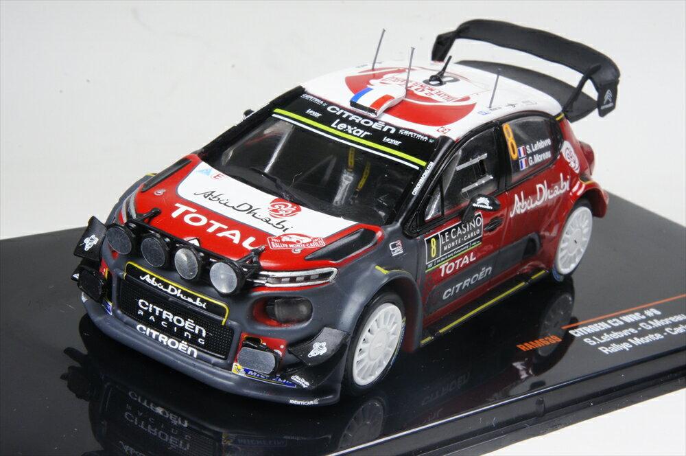 イクソ 1/43 シトロエン C3 No.8 WRC 2017 ラリー・モンテカルロ S.Lefebvre/G.Moreau ナイトライト付 完成品ミニカー RAM639