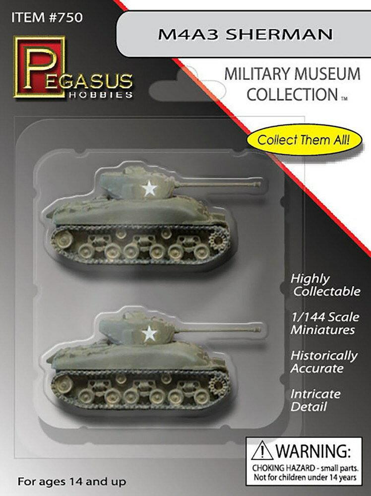 【予約】 ペガサスホビー 1/144 WW.II アメリカ軍 M4A3 シャーマン (2輌セット) 塗装済み完成品 完成品 艦船・飛行機 PH750