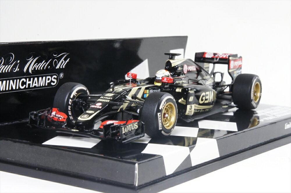 ミニカー 1/43 ミニチャンプス MINICHAMPS(417150108) ロータスF1チーム ロータス E23 ハイブリッド R.グロージャン 2015 ベルギーGP 3位入賞