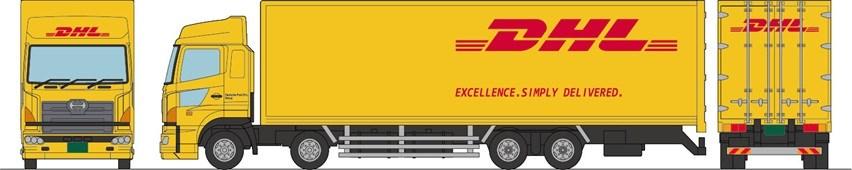 【予約】 トミーテック ザ・トラックコレクション DHL大型トラックセット 鉄道模型パーツ 287872