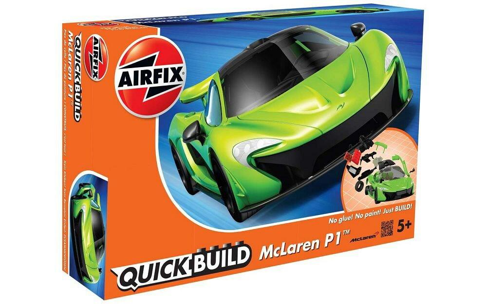 エアフィックス クイックビルド マクラーレン P1 グリーン スケールプラモデル QB6021