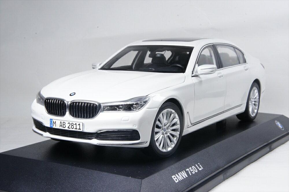 ミニカー BMW特注/ BMW/iScale (80432405587) 1/18 BMW 7シリーズ Langversion G12 ミネラル ホワイト