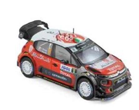 【予約】 ノレブ1/43 シトロエン C3 No.8 2017 WRC ツール・ド・コルス C.Breen/S.Martin 完成品ミニカー 155364