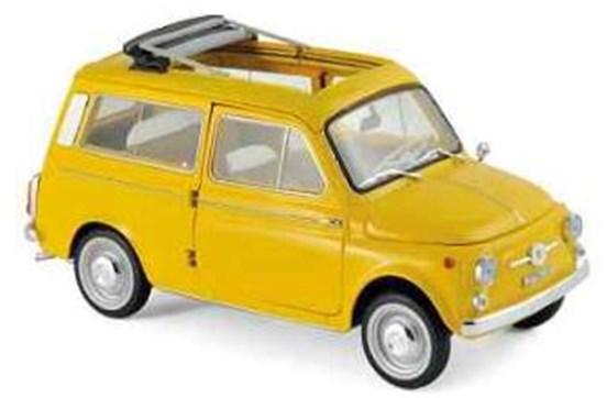 【予約】 ノレブ1/18 フィアット 500 ジャルディニエラ 1968 ポジターノ イエロー 完成品ミニカー 187724