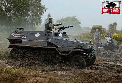 【予約】 FTF1/72 独・Sd.kfz.251/4Ausf.A砲牽引装甲車+フィギュア1体 スケールプラモデル PF72053