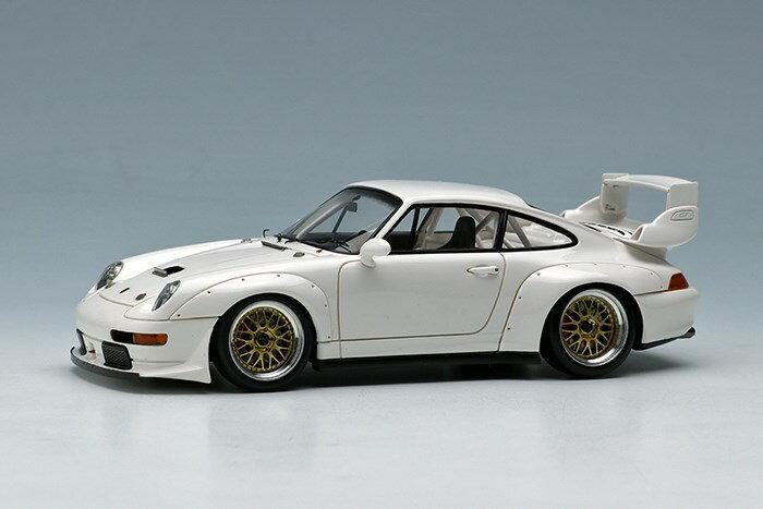 【予約】 ヴィジョン1/43 ポルシェ 911(993) GT2 レーシング 1995 ホワイト 完成品ミニカー VM129A