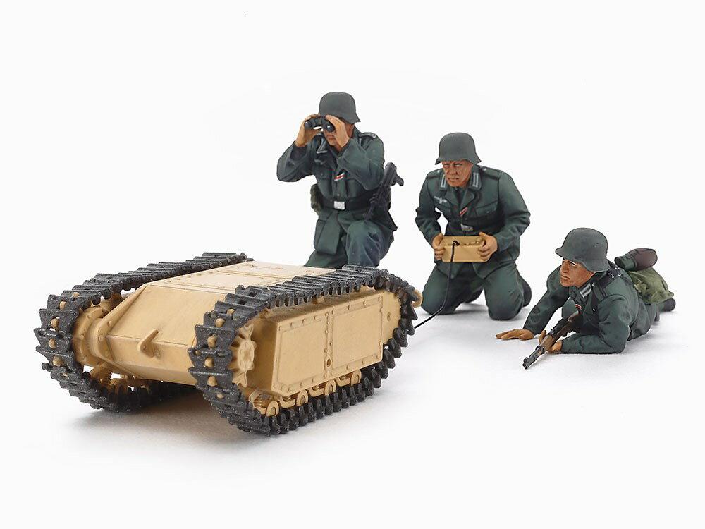 タミヤ1/35MM ドイツ突撃工兵チーム ゴリアテセット スケールプラモデル 35357