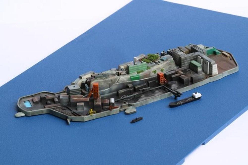 フジミ1/3000 集める軍艦シリーズ No.99 軍艦島(端島) スケールプラモデル 軍艦-99