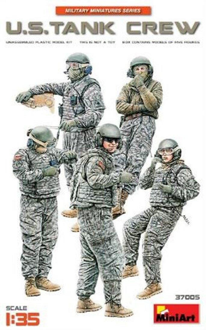 ミニアート1/35 アメリカ戦車兵5体入 スケールプラモデル MA37005