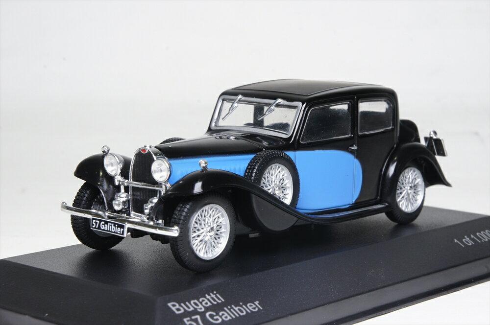 ミニカー ホワイトボックス (WB123) 1/43 ブガッティ 57 ガリビエール1934 ブルー/ブラック