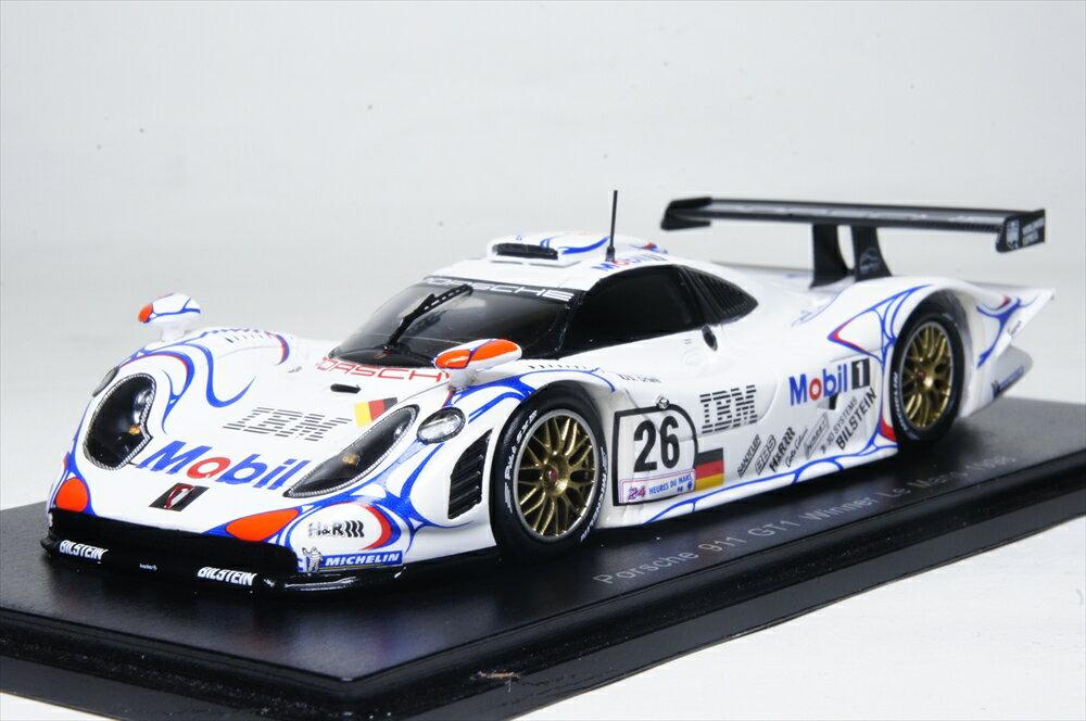 スパーク1/43 ポルシェ 911 GT1 No.26 ウイナー 1998 ル・マン24時間 A.マクニッシュ/L.アイエロ/S.オルテリ 完成品ミニカー 43LM98