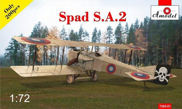 【予約】 Aモデル1/72 スパッドS.A.2復座戦闘機WW-I スケールプラモデル AM72060-1