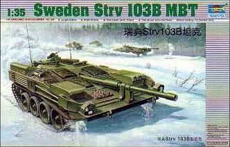 トランペッター1/35 スウェーデン陸軍 strv 103B 主力戦車 スケールプラモデル 00309
