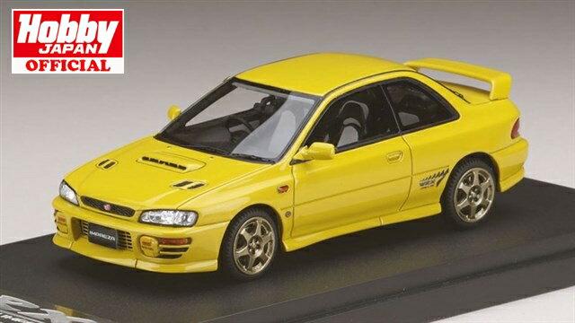 MARK43(PM4357SY) 1/43 スバル インプレッサWRX タイプR Sti Ver.1997(GC8) スポーツホイール チェイスイエロー 送料無料