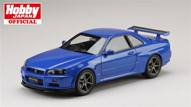 ホビージャパン 1/18 ニッサン スカイライン GT-R V・スペック 1999 (BNR34) ベイサイドブルー (M) 完成品ミニカー HJ1809BL 送料無料