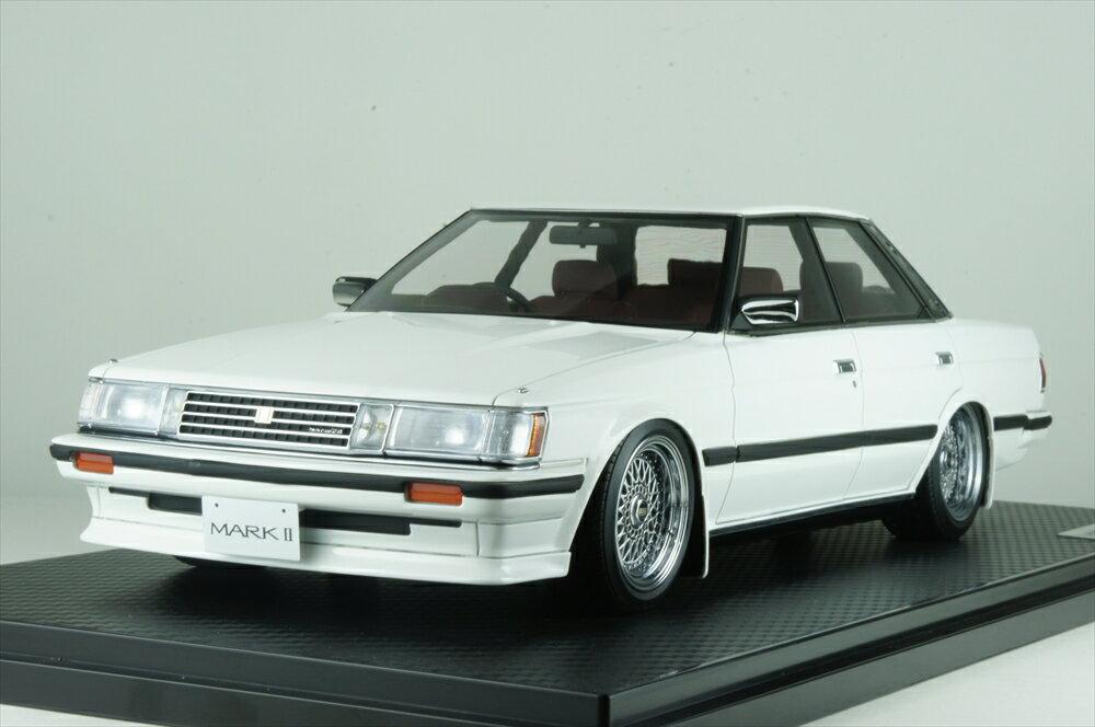 イグニッションモデル 1/18 トヨタ マークII グランデ GX71 ホワイト/BBS RSタイプ18インチ ポリッシュ/シルバー 完成品ミニカー IG1146