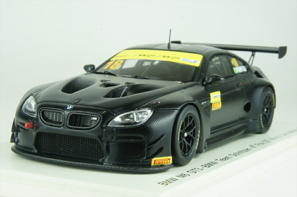 スパーク1/43 BMW M6 GT3 No.18 2017 マカオ FIA GT ワールドカップ BMW チーム Schnitzer A.Farfus 完成品ミニカー SA140