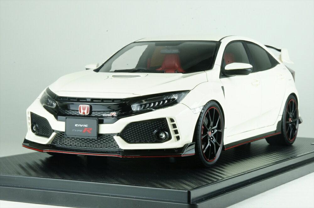 イグニッションモデル1/18 ホンダ シビック (FK8) タイプ R チャンピオンシップホワイト 完成品ミニカー IG1442