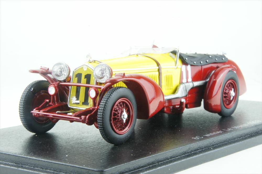 スパーク1/43 アルファロメオ 8C No.11 1933 ル・マン24時間 ウイナー R.ソマー/T.ヌヴォラーリ 完成品ミニカー 43LM33