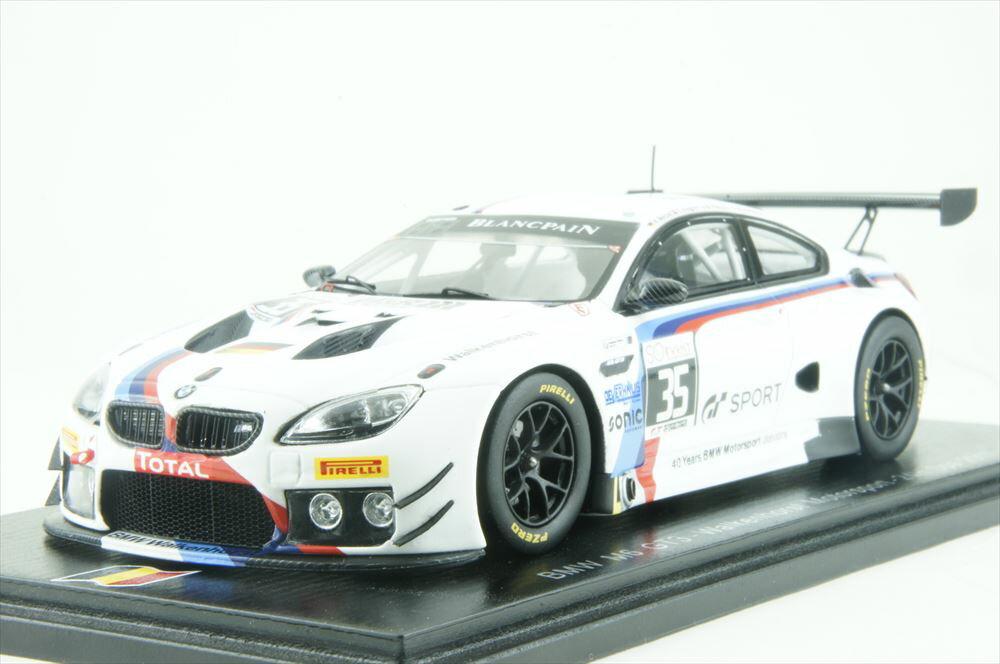 スパーク1/43 BMW M6 GT3 ウォーケンホーストモータースポーツ No.35 2017 スパ24時間 M.パルッタラ/and more 完成品ミニカー SB177