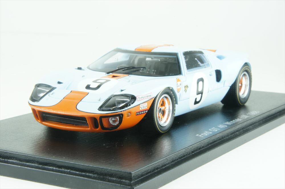 ミニカー 1/43 スパーク Spark(43LM68) フォード GT40 1968年 ル・マン24時間耐久レース 優勝 No.9 P.Rodriguez/L.Bianchi