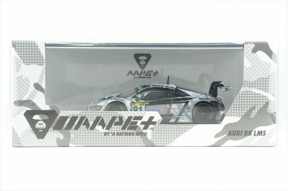 ターマックワークス 1/64 アウディ R8 LMS No.81 AAPE+/フェニックス 2018 スーパー耐久 A.クート/J.リー 完成品ミニカー T64-007-18ST81