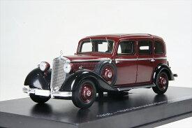 エスバルモデル 1/43 1936-40 メルセデスベンツ 260D プルマン ランドーレット マルーン/ルーフ クローズ 完成品ミニカー EMGEMB43001B