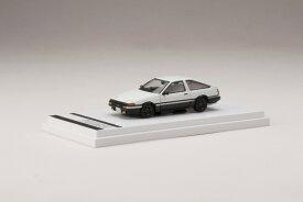 【予約】 ホビージャパン 1/64 トヨタ スプリンター トレノ GT APEX (AE86) カスタムバージョン ハイテックツートン (白/黒) 完成品ミニカー HJ641008SWK