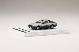 【予約】 ホビージャパン 1/64 トヨタ スプリンター トレノ GT APEX (AE86) ハイメタルツートン(銀/黒) 完成品ミニカー HJ641008SK