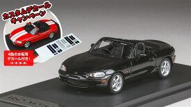 MARK43 1/43 マツダ ロードスター NB8C RS 1998 カスタムデカール付属 ブリリアントブラック 完成品ミニカー PM4325DBK